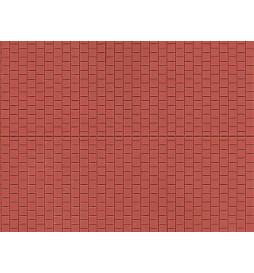 Auhagen 52424 - Płytka dekoracyjna z polistyrenu: chodnik tradycyjny czerwony
