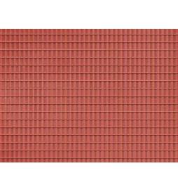 Auhagen 52425 - Płytka dekoracyjna z polistyrenu: dachówka czerwona