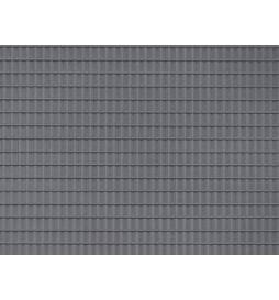 Auhagen 52426 - 1 Dekorplatte Dachpfanne dunkelgrau lose