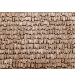 Auhagen 52428 - Płytka dekoracyjna z polistyrenu: dachówka drewniana - gonty