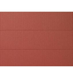 Auhagen 52430 - Płytka dekoracyjna z polistyrenu: blacha falista czerwona