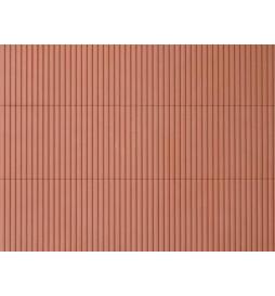 Auhagen 52432 - Płytka dekoracyjna z polistyrenu: blacha trapezowa brunatna