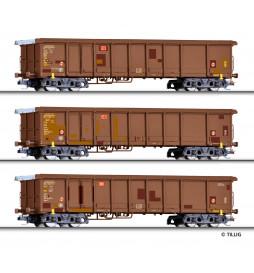 Tillig 01772 - Zestaw wagonów towarowych DB AG, Ep. VI, skala TT