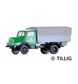 "Tillig 19055 - Ciężarówka H3A z plandeką ""VEB Bau-Union"""