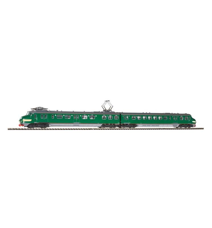 ~El.Zesp.Trak. NS III , wersja AC z dekdoerem (zielony/żółte pasy) - Piko 57325
