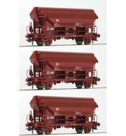 Roco 76575 - zestaw 3 wagonów Tdgs DB AG.