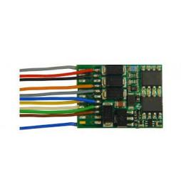 Dekoder jazdy i oświetlenia Zimo MX634 DCC 11-kabli