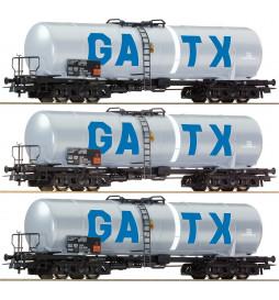 Roco 67136 - Zestaw 3 wagonów cystern GATX