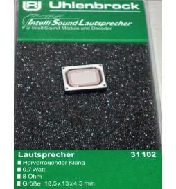 Uhlenbrock 31102 - Głośnik miniaturowy bez komory rezonansowej, 8Ω, 1W, 13x18mm