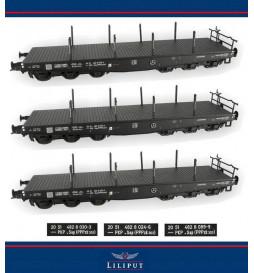 Roco 76195 - Zestaw wagonów platform z ładunkiem szyn