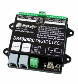 Digikeijs DR5088RC - 16-kanałowy moduł informacji zwrotnej RailCom Detector
