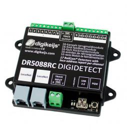 Digikeijs DR4088RB-CS - 16-kanałowy moduł informacji zwrotnej s88N z interfejsem Roco R-BUS i detekcją przepływu prądu