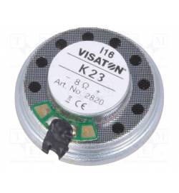 Visaton 2820 - Głośnik okrągły 8Ω, 0,3W, 23mm (VS-K23-8/2820)