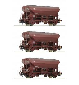 Roco 76170 - Zestaw trzech talbotów Fcs DB-AG z ładunkiem węgla