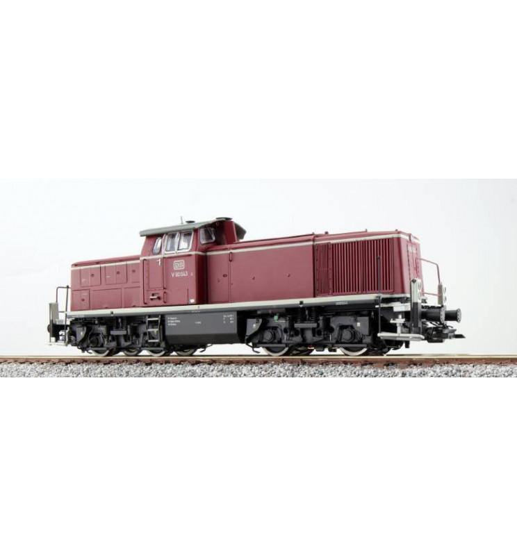 ESU 31230 - Lokomotywa spalinowa, V90 043, DB, Ep III, ciemnoczerwona, LokSound, Generator dymu, Skala H0, DC/AC