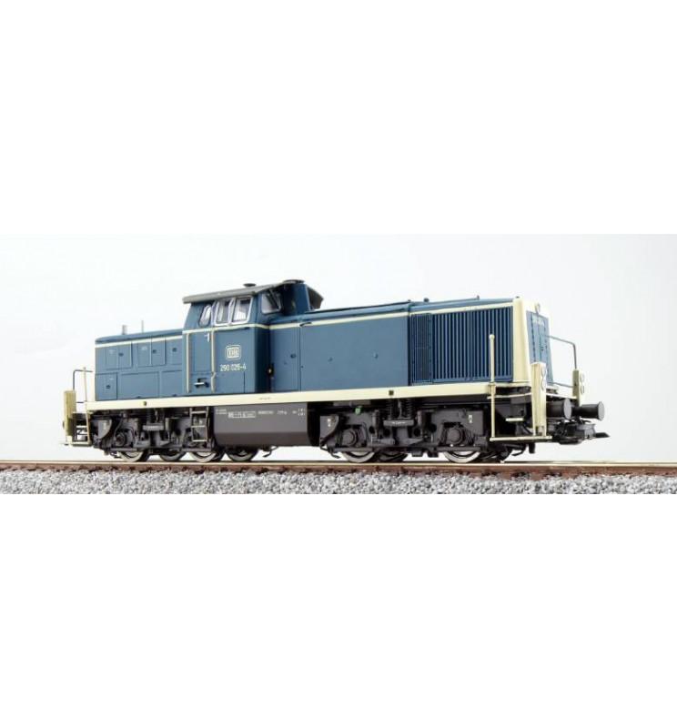 Lokomotywa spalinowa, 290 026, DB, Ep IV, morski niebieski-beżowy, LokSound, Generator dymu, Skala H0, DC/AC - ESU 31231
