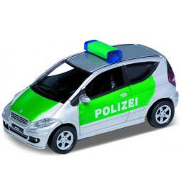 Vollmer 41606 - H0 Samochód Mercedes-Benz A200, policja, zielono-srebrny