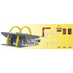 Vollmer 43634 - H0 McDonald`s fast food restaurant with McDrive