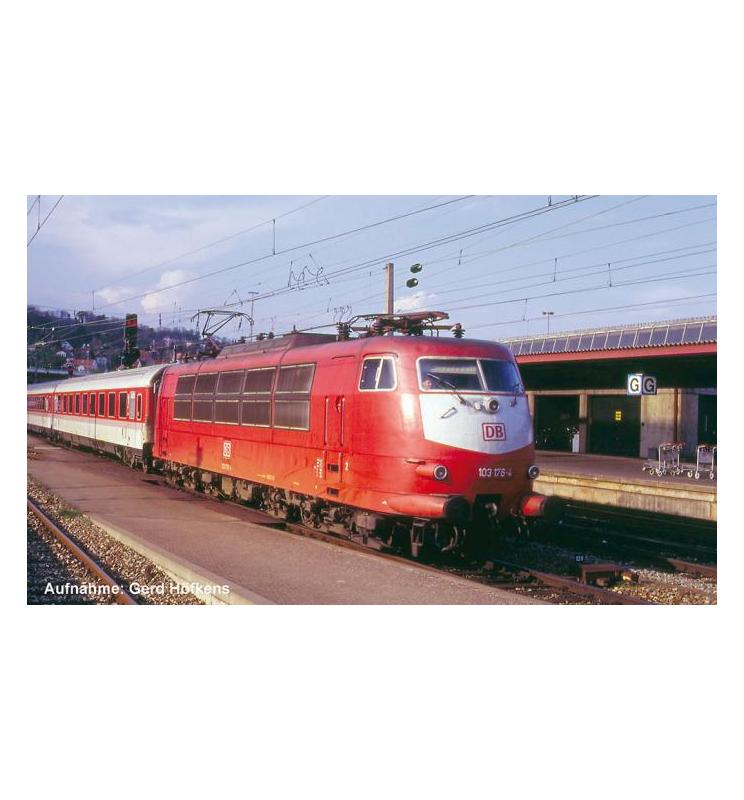 Elektrow.z dek. BR 103 DB IV, o. Schürze , orientrot - Piko 51674