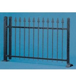 Vollmer 45007 - H0 Ogrodzenie metalowe, czarne, 192 cm