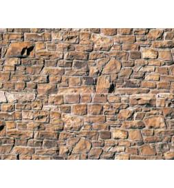 Vollmer 46036 - H0 Wall plate brick beige-brown of cardboard,