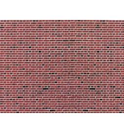 Vollmer 46042 - H0 Ściana z czerwonej cegły, płytka kartonowa 25 x 12,5 cm, 10szt
