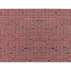 Vollmer 46042 - H0 Wall plate red brick of cardboard 25 x 12,5 cm