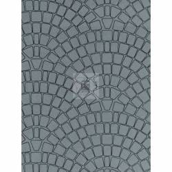Vollmer 46053 - H0 Wall plate concrete stone of cardboard,