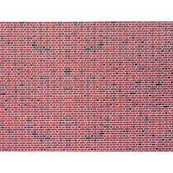 Vollmer 47361 - N Wall plate red brick of cardboard, 25 x 12,5 cm,