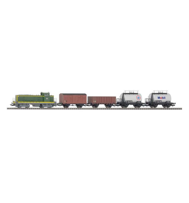 Zestaw Startowy towarowy BB 63000 + 4 wagony - Piko 57162