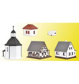 Vollmer 47613 - N Christmas village with lighting, functional kit