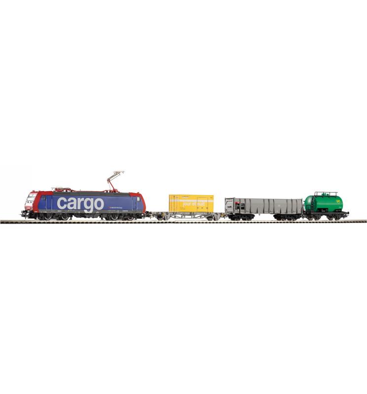 Piko 57187 Zestaw Startowy Towarowy SBB Cargo z BR185 + 3 Wagony