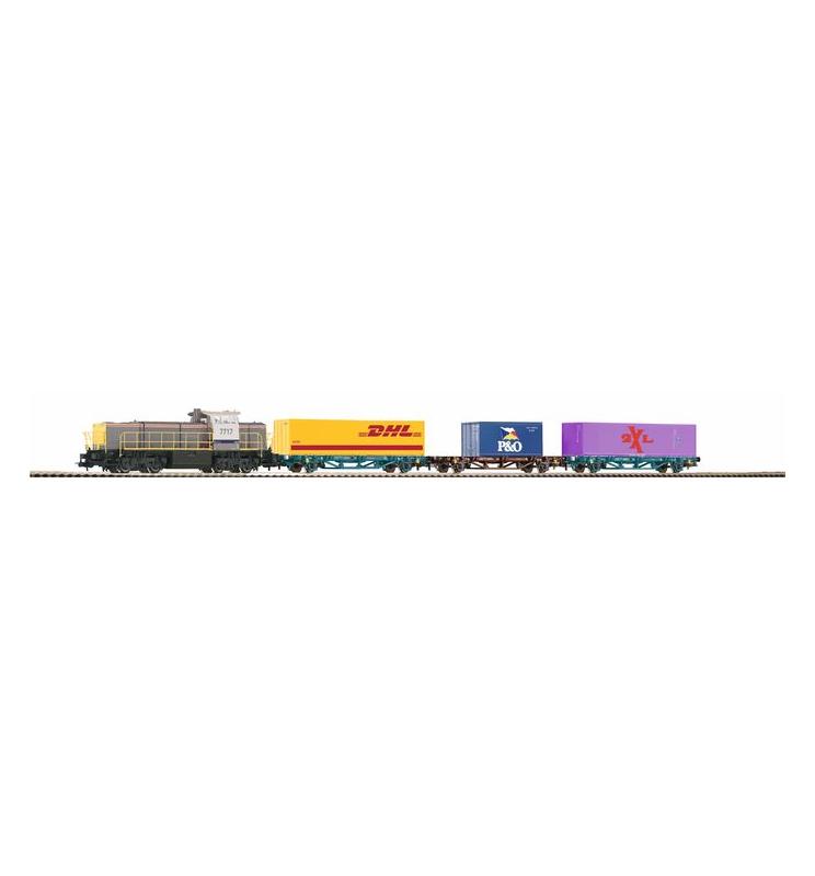 Zestaw Startowy Towarowy G1700 B + 3 Wagony z kontenerami - Piko 59111