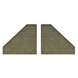Vollmer 48701 - 0 Retaining wall, suitable for 48700, 2 pieces