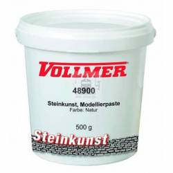 Vollmer 48900 - Stone art modelling paste, colour natural, 500 g