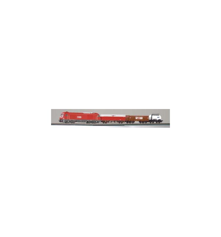 Zestaw Startowy Towarowy Herkules ÖBB + 3 wagony - Piko 96948