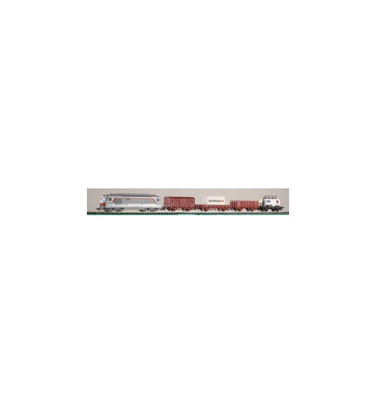 Zestaw Startowy Towarowy SNCF BB 67000 + 4 Wagony - Piko 96950