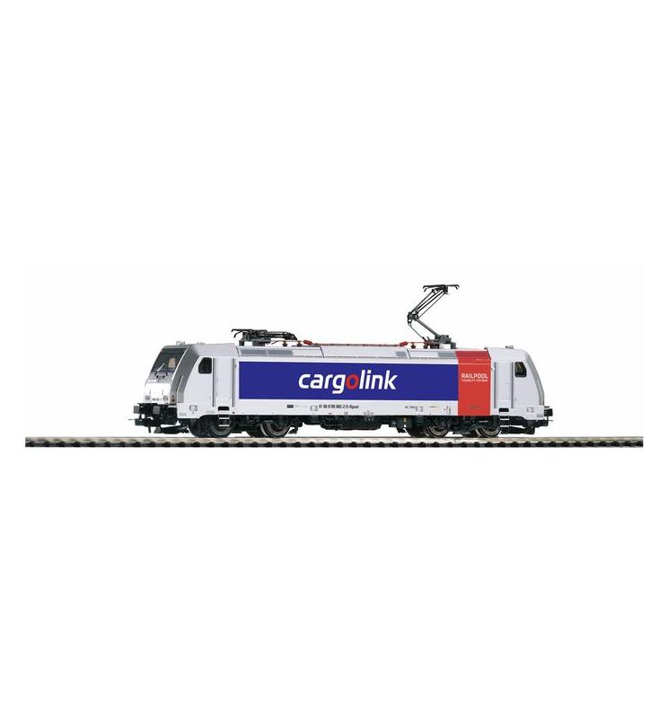 ~Elektrow. BR 185.2 Cargolink VI, 2 Pan. + lastg.Dec. - Piko 59358