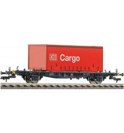 Fleischmann 523402 - Wagon platforma z kontenerem typ Lgjs 598, DB AG