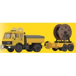 Kibri 10744 - H0 MB post-truck with steerable axle and