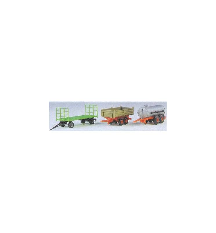 Kibri 10908 - H0 Trailer set agriculture, 3 pieces