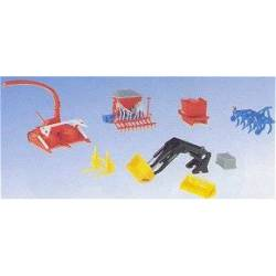 Kibri 10910 - H0 Tractor attachments set