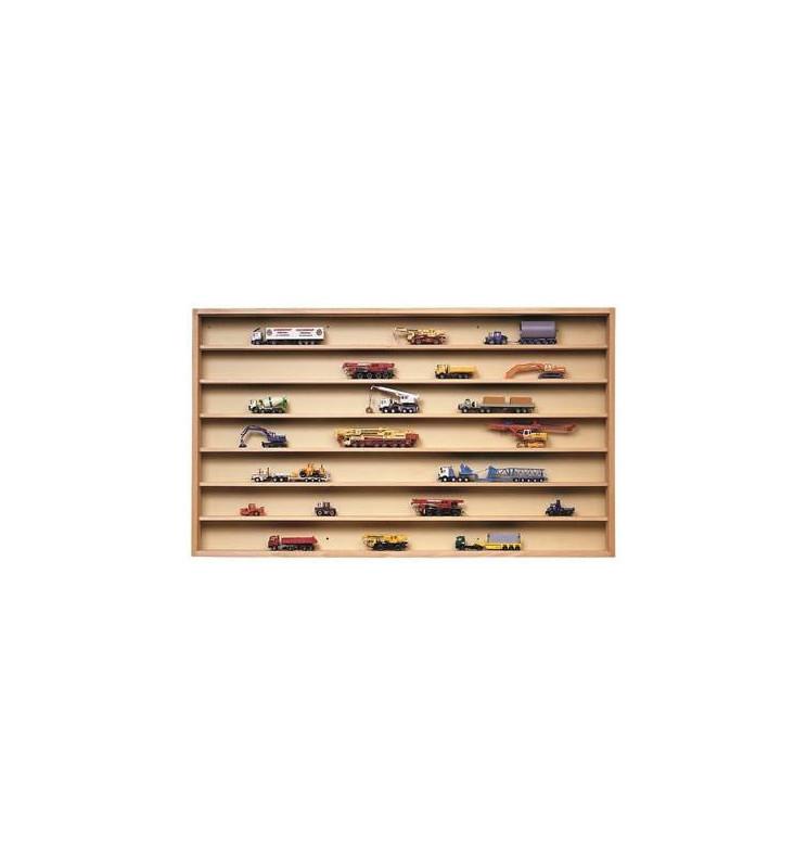 Kibri 12011 - Wooden display with glass sliding doors (walnut),