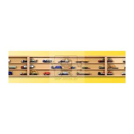 Kibri 12012 - Wooden display with glass sliding doors (natural),