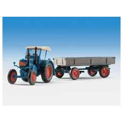 Kibri 12232 - H0 LANZ tractor with rubber tyred trailer