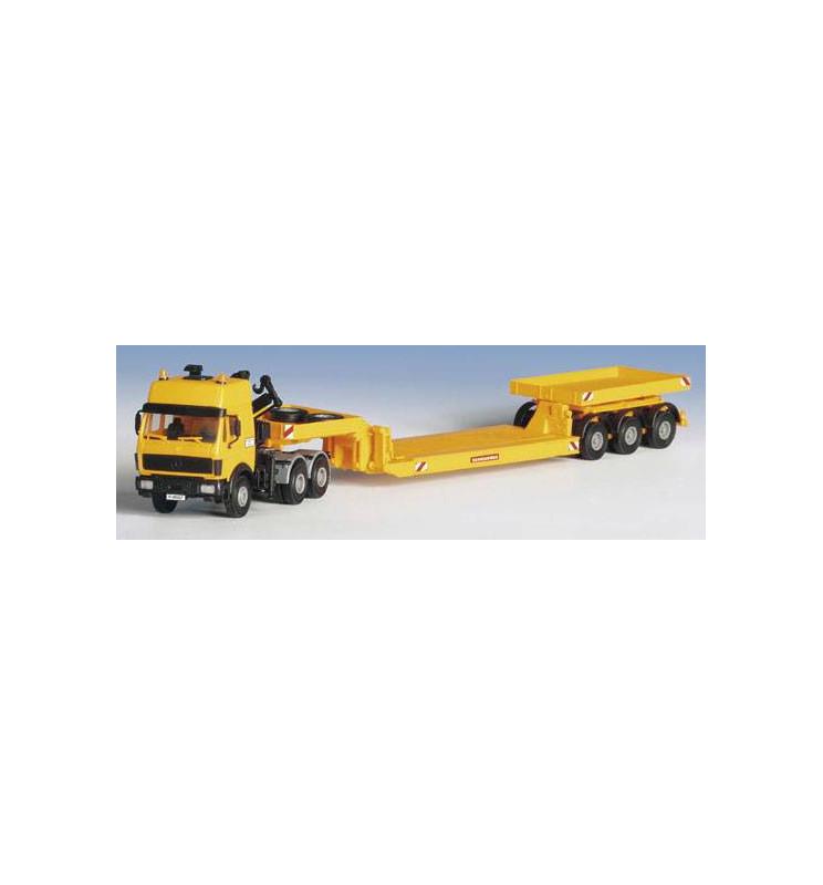 Kibri 13548 - H0 MB truck with low-loader trailer