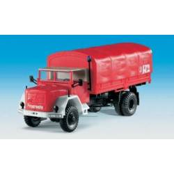 Kibri 18262 - H0 Fire brigade MAGIRUS A6500 with folding canopy