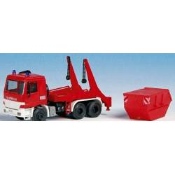 Kibri 18268 - H0 Fire brigade MB ACTROS with skip loader