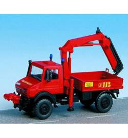 Kibri 18271 - H0 Fire brigade UNIMOG with PALFINGER crane