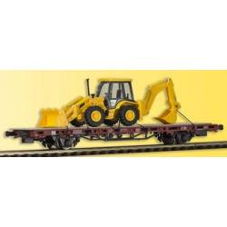 Kibri 26260 - H0 Low side car with excavator loader JCB